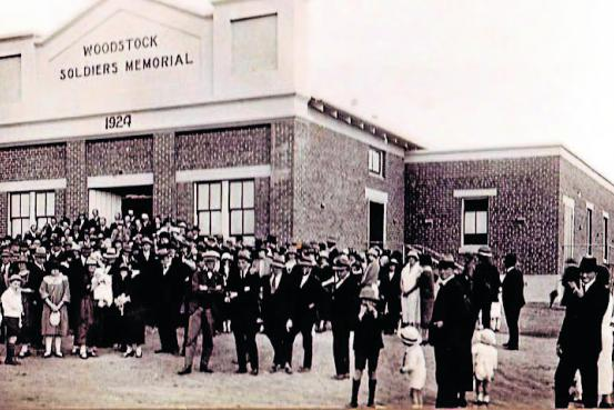 The opening of the Woodstock Soldiers Memorial Hall in 1924. File photo.