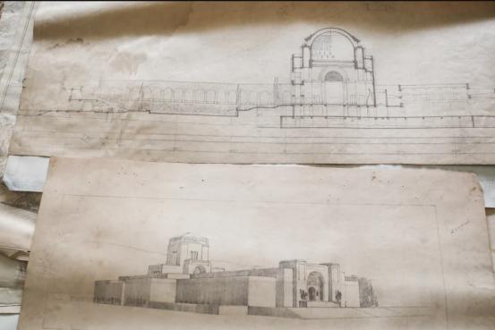 drawings of the Australian War Memorial by one of its architects John Crust