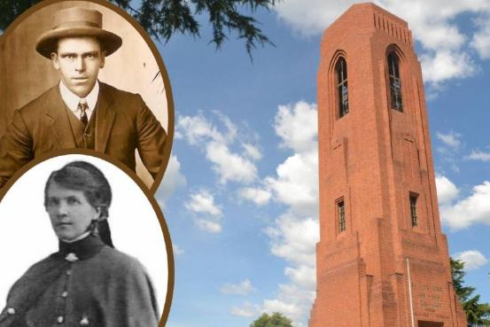 Private Sydney Purdon (top) and Sister Catherine Kitty McSpedden will be recognised during the Festival of Bells at the War Memorial Carillon on Friday evening.