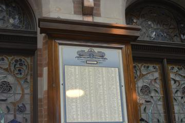 One of the four pairs of cabinets which comprise the Sydney Station Honour Board