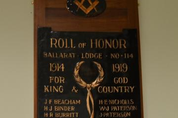 Ballarat Lodge No.114 Roll of Honor