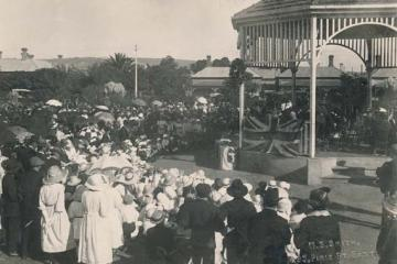 Opening of the Unley Soldiers Memorial Gardens 24th April 1921