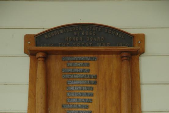 Berriwillock School Honour Roll
