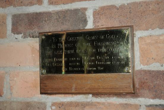 Rosevears Methodist Church Honour Roll