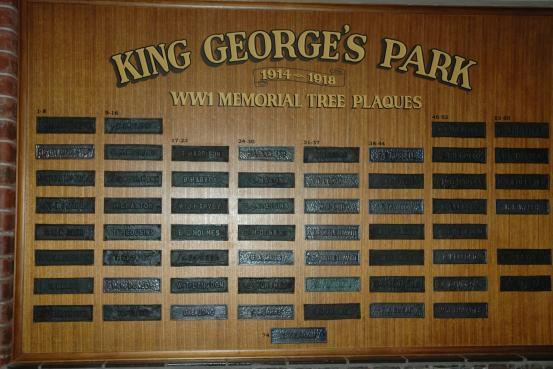 Memorial Tree Plaques recovered from King Georges Park