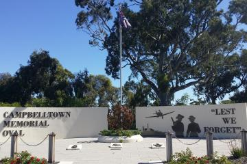 Campbelltown World War II Memorial built in 2015