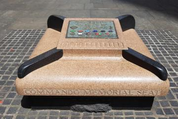 World War II Commando Memorial Seat (Front)