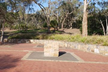 Location of Dedication Plaque and the three Red Spotted Gum Trees marking the end of the Remembrance Driveway
