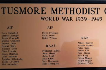 Tusmore Methodist Church - World War II