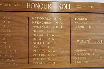 World War II Honour Roll