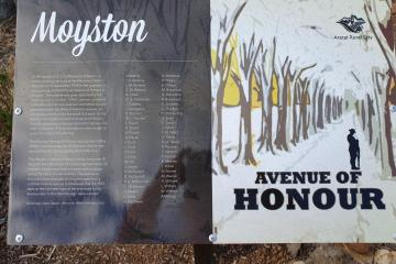 Listing of all those Honoured in the Moyston Avenua of Honour is now available at the Moyston War Memorial next to the Hall