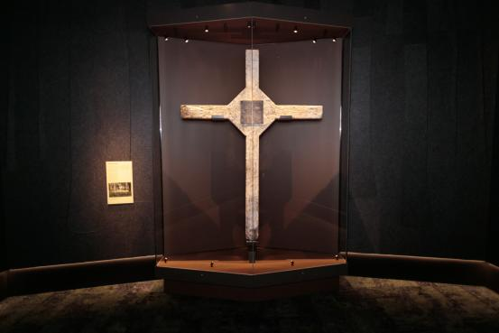 Permanent display of the Long Tan Cross unveiled in a ceremony attended by Governor General Peter Cosgrove and Foreign Minister Julie Bishop 17th August 2018. AWM2018.4.183.1