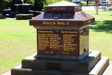 The Memorial commemorates conflicts after the First World War
