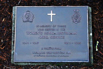 Memorial Plaques to Women who served in the WRANS from 1941 to 1947 and 1951 to 1985