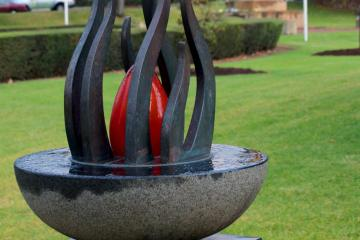 Eternal Flame Sculpture in Peace Garden, North Adelaide