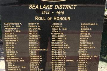 Sea Lake Honour Roll