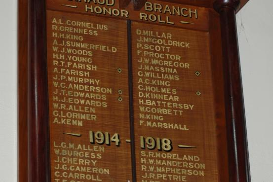 A.N.A. St Arnaud Branch Honour Roll