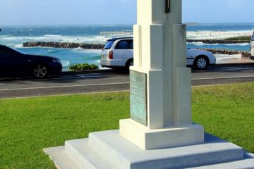 Rats Of Tobruk Memorial on headland overlooking entrance to the Tweed River