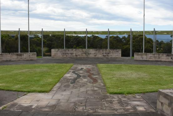 The Memorial is set in Harrison Park