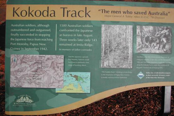 The Kokoda Track Memorial Walk commemorates Australian troops who fought in the Papua New Guinea campaign of July 1942 - January 1943
