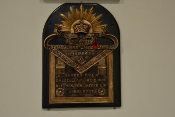 Sebastopol Lodge No. 63 Honour Board.