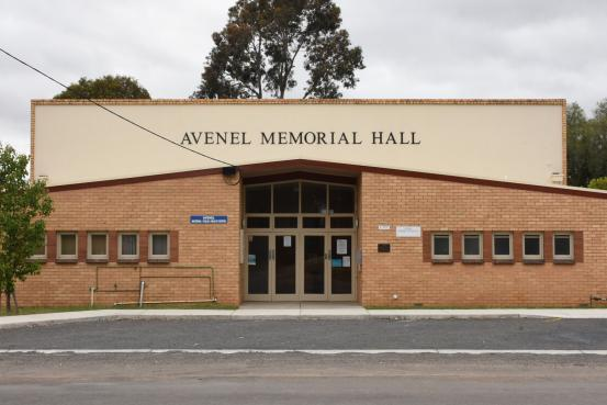 The upgraded Avenel Memorial Hall