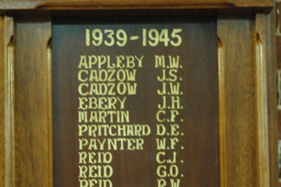 Slaty Creek Honour Roll WW2