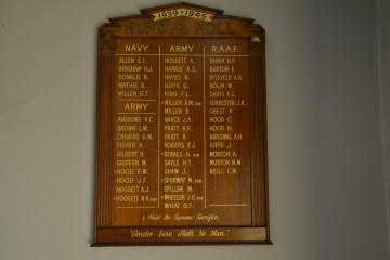 West Ryde Baptist Church WW2 Honour Roll