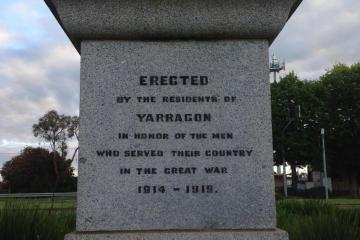 Cenotaph - Princes Hwy Yarragon Victoria - relocated from Campbell st ???