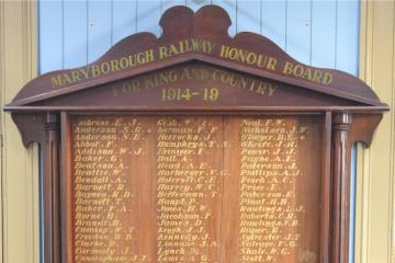 Maryborough Railway Honour Board