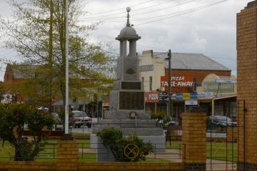 The Nagambie War Memorial, behind the Memorial Clock Tower