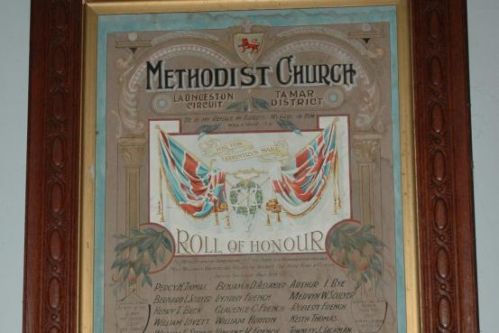 Methodist Church Launceston Circuit Roll of Honour