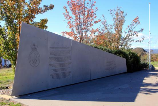 The Coral Sea - Crace Memorial Wall and Flagpole