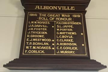 Albionville Roll of Honour, Gin Gin, QLD
