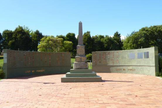 The Memorial obelisk and wall