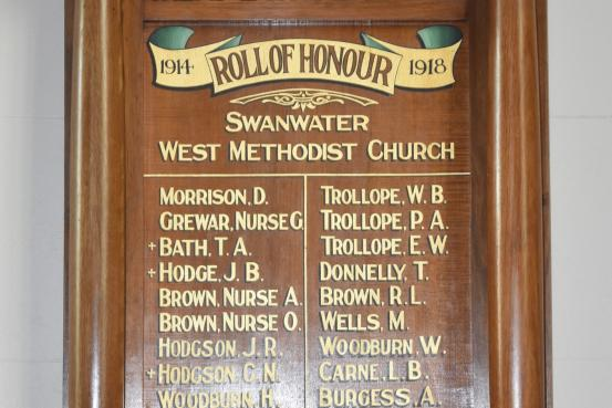 Swanwater West Methodist Church Honour Roll