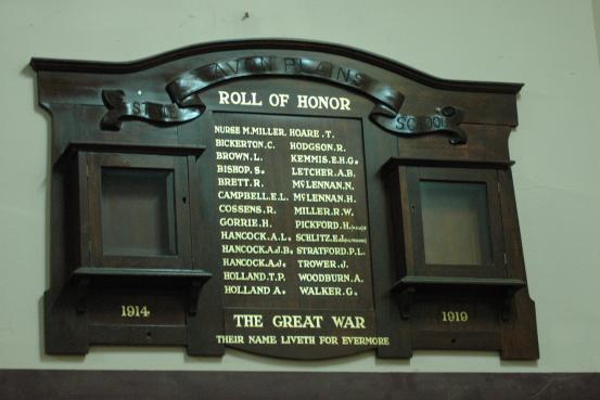 Avon Plains State School Roll of Honour WW1