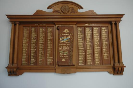 Wycheproof Shire Hall Honour Roll