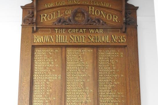 Brown Hill State School WW1 roll