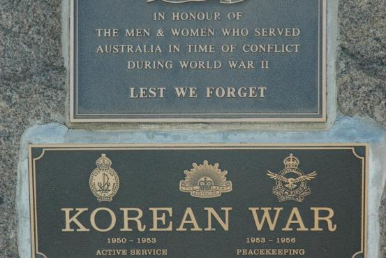 Korean War Memorial Plaques