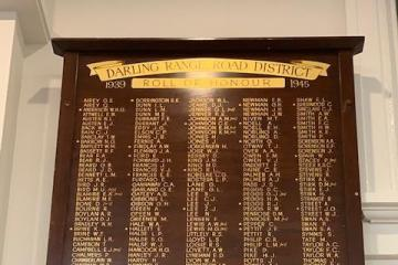 Darling Range Road District Roll of Honour