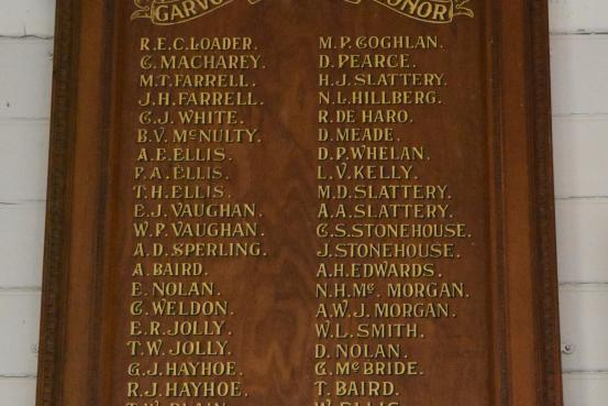 Garvoc District Honour Roll