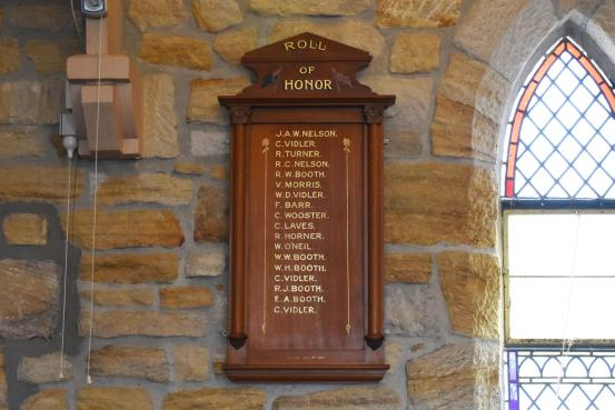 The First World War Roll of Honour board