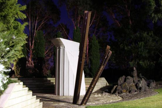 Australian Hellenic Memorial at sunset
