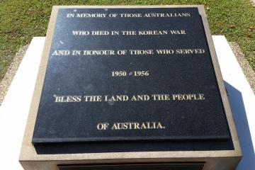 Korean War Memorial, Lions Remembrance Park, Bundaberg