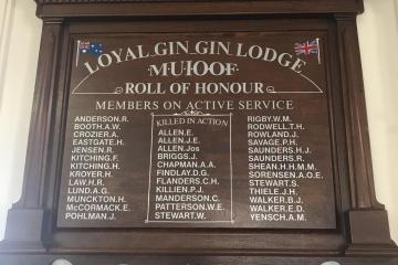 Loyal Gin Gin Lodge M.U.I.O.O.F. Roll of Honour