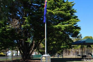 Memorial and Flagpole