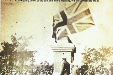 Opening of Collie War Monument 4th Sep 1921