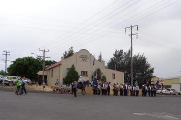 Marchers Arriving at Geurie Memorial Hall 21/10/2015