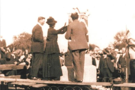 Unveiling of the Memorial on the 24th March by Mrs. C. Marlow at 12:30PM